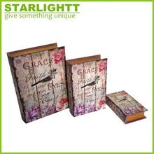 decorativa vazio impressão mdf livro caixa atacado