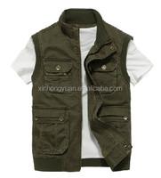 good quality durable cotton sleeveless work vest multi pocket vest