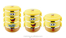 Popular stainless steel plastic insulated vacuum food container/thermos lunch box