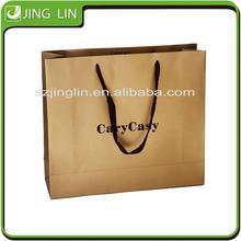 OEM eco friendly custom logo printed shopping paper bag with handle