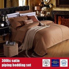 100%Cotton 300TC Satin Piping Hotel Brand Linens