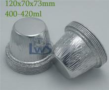 eco-friendly aluminum beverage container 400ml round aluminum foil container with lid