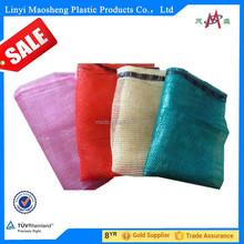high-strength orange plastic pp leno drawstring mesh bag
