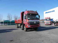 Foton 8*4 Auman TX 6 wheel dump truck capacity, dump truck load volume, actros mercedes tipper