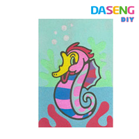 Diy sand painting pictures handcraft drawing materials for kids