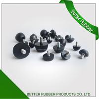 ROHS COMPLIANT screw rubber bumper knurled machine screw