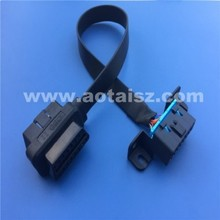 16pin ribbon female to male OBD2 cable for GM