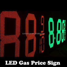 Waterproof Outdoor Large Size Led Gas Price Sign 60 Inch gas price sign numbers /led gas price double sided outdoor pole sign