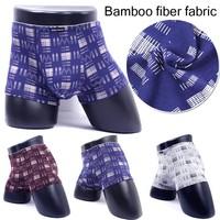 2015 Hot Wholesale Men underwear Men Boxers Sexy Bamboo Fiber Underwear Boxers Shorts Healthy Boxers Men L XL XXL XXXL