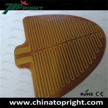 53.5V kapton heater ,polyimide adhesive film heater,polyimide thermofoil flexible heaters