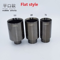 universal stainless steel exhaust tips car tail muffler 57-101inlet57-outlet101 flat (welding)