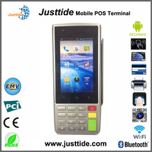 Justtide Smart Android Magnetic/IC/NFC Card Reader POS Terminal,High Memory POS Terminal, ARM 11 POS Terminal