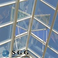 High quality roof window glass (4mm,5mm,6mm,8mm,10mm,12mm,15mm,19mm)