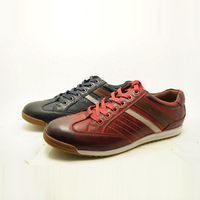 new style products red color 2015 fashion men leather sport shoes