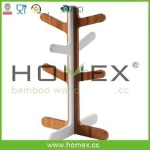 Bamboo Cutlery Caddy&Utensil Holder&Mug Tree&Cup Hanger Rack/Homex-BSCI