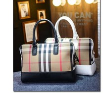 Ladies Fancy Cotton Canvas Fabric Handbag Beautiful Ladies tote bag With Leather Strap Wholesale