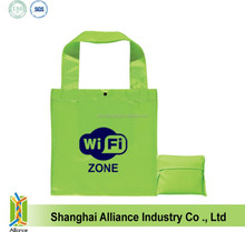 Wholesale Cheap Promotional Polyester Silkscreen Printing Foldable Shopping Bag For Promotional Gift