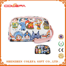 China style good quality travel cosmetic bag with beijing opera picture