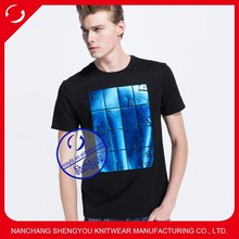 Fashion Design China Manufacturer Wholesale Custom Men Black T Shirt