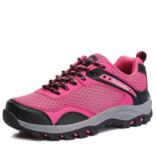 fashion outdoor autumn lightweight hiking shoes popular for female male, good quality women outdoor shoes climbing boots walking