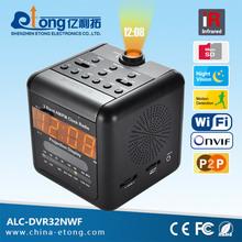 FM/AM radio hidden clock wifi ip hidden internet camera easy to operated p2p ip camera