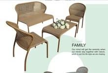Amelia Costco Outdoor Furniture Anti-skidding PE Rattan Sofa Set with Table