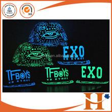 2015 hot sale custom design sports glow in dark Luminous hip-hop snap back caps snapback hats cap(SHXEA-083108)