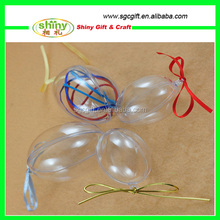new arriving fashion transparent pp wholesale clear plastic ball christmas ornaments