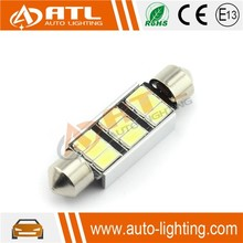 High quality festoon canbus auto led light, led car kit, led bulb 3w