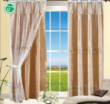 XH-311 15 years top-rated golden seller newest 100% polyester embroidered finished curtain