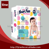 Disposable Yoursun baby dipers manufacturer in china