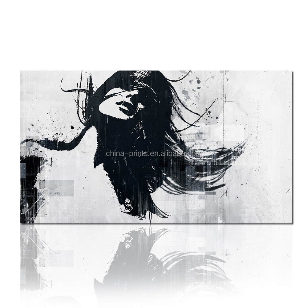 Street Wall Art Black And White : Modern street art canvas printing black and white wall