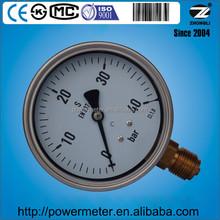 4 inch half stainless steel wika mechan instrument manometer for pressure 40 bar