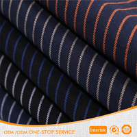 21S twill 100% cotton stripe brushed fabric for autumn winter garment