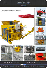Hot sale small manual mobile block making machine DMYF6A