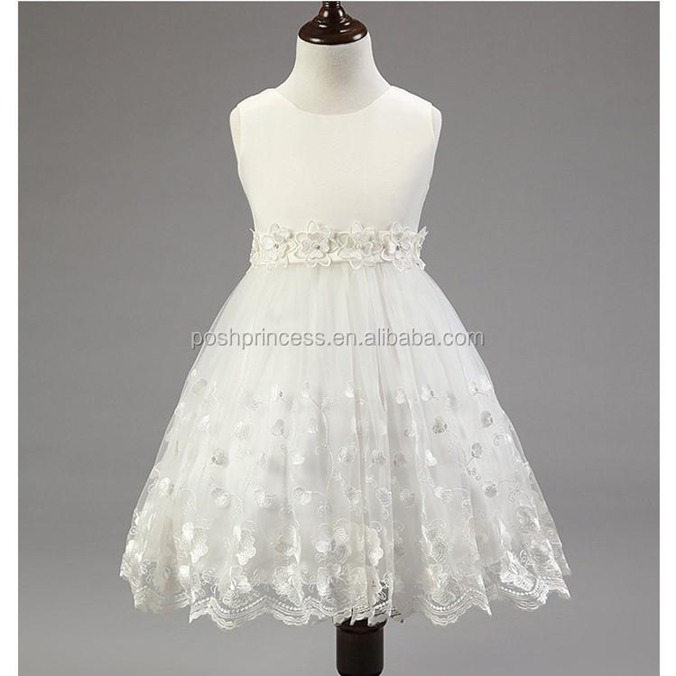 Le ragazze di fiori bianco abito da sposa per i bambini, bambini abito da sposa