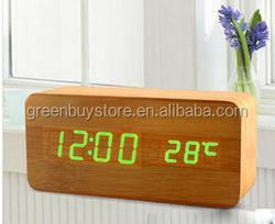 Electronic Desktop Digital Table Clocks Upgraded LED Alarm Clock,Despertador Temperature Sounds Control LED Display