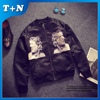 Cheap new style soft thin leather fleece jean men jacket