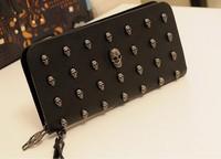 2015 latest punk stytle women handbags black fashion cool ladies clutch bag