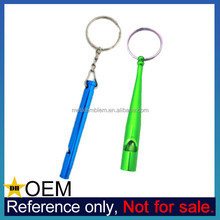 Wholesale Cheap Custom Aluminum Metal Whistle Keyring with Logo