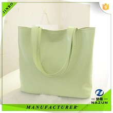 custom 2015 new product high end quality leather shopping tote bag for lady