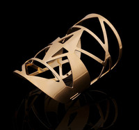 Online Market 18K Gold Plated Hollow Out Cuff Bangle