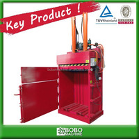 hydraulic vertical waste paper baling press