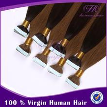 Bleachable remy 100 human hair weave 7a grade russian hair tape hair extensions
