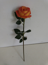 Real touch artificial single rose for wedding decoration