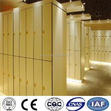 modern gym locker room anti-rusty/solid phenolic compact laminate bench and storage lockers