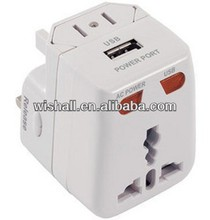 Worldwide Travel Adapter to American, Japan, England, France countries with/without USB port