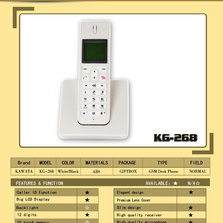 Slim Cordless Phone Slim Desktop Cordless Sim