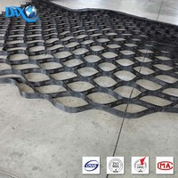 Construction material plastic geocell for road