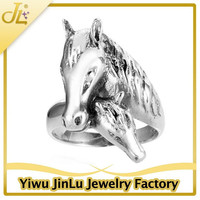 Fashion 925 sterling silver horse engagement rings
